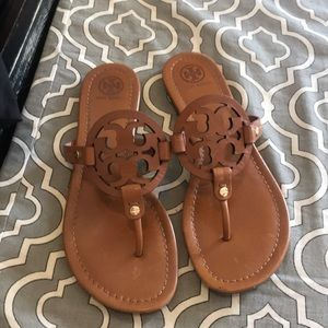 Exec Used Cond! Tory Burch Miller Tan Size 9 1/2
